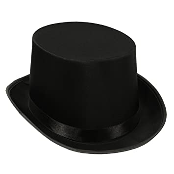 e56be95ffd2 Amazon.com   Black Sateen Top Hat Formal Wear w  Ribbon Accents    Everything Else