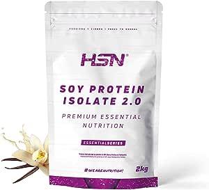 Proteína de Soja Aislada de HSN   Vegan Protein   Proteína Vegana con Stevia   Soy Protein Isolate   Sin Gluten, Sin Colesterol, Sin OMG, Sin Azúcar, ...