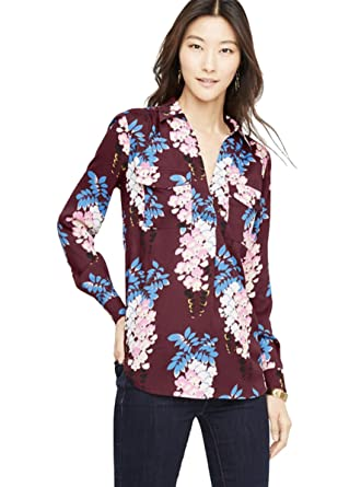 716c2376a7db Ann Taylor Women's - Petal Floral Utility/Camp Blouse at Amazon ...