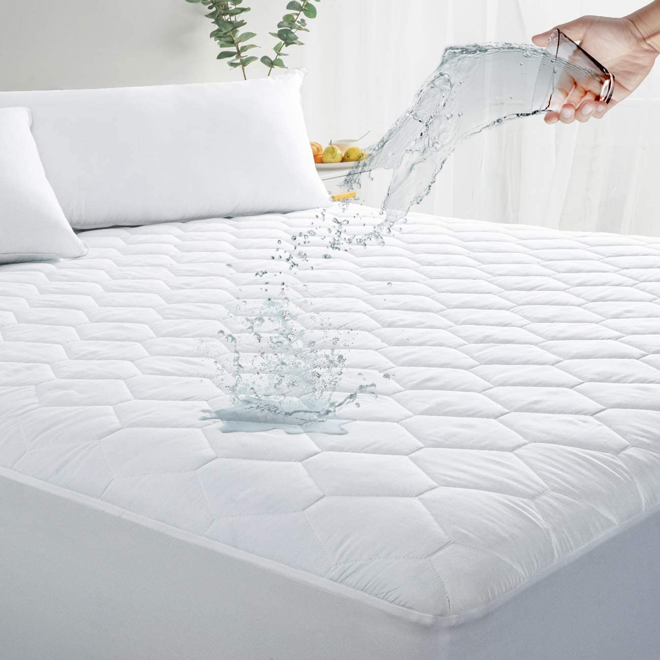 Quilted Mattress Protectors  Mattress cover Waterproof Hypoallergenic