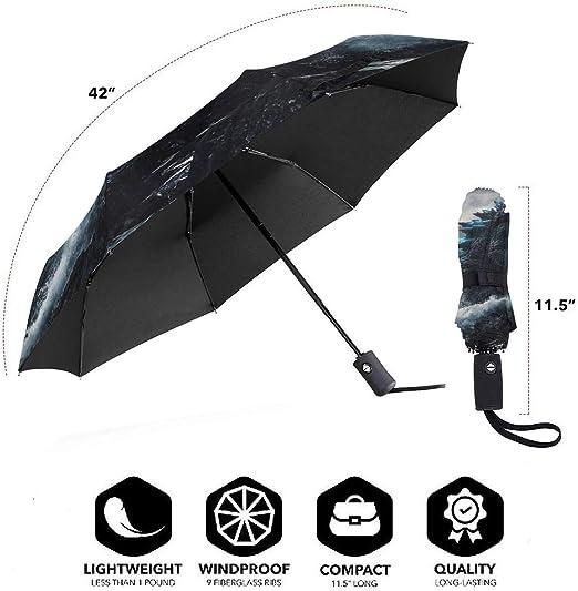 PatriciaHeredia Godzilla Anime Automatic Tri-fold Umbrella