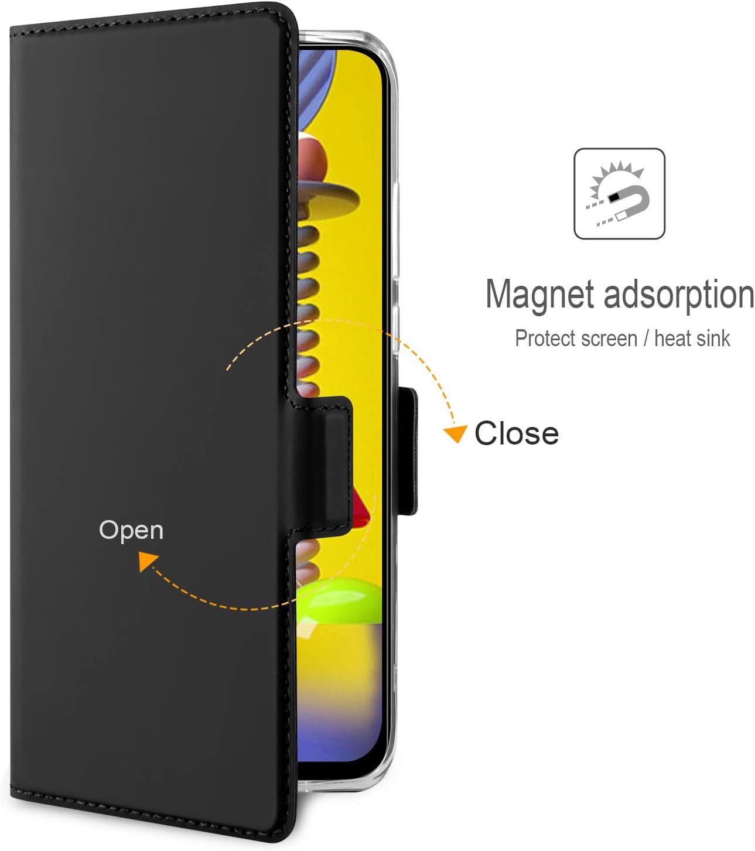 AROYI Coque Huawei p40 Lite+Protection /Écran+Tactile Capacitif Stylus,360 Degres Protection /Étui Housse Cuir TPU Silicone Flip Cover Portefeuille Bookstyle Magn/étique pour Huawei p40 Lite Bleu