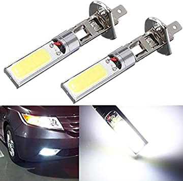 Car Auto 2pcs H1 COB LED Fog Light Headlight DRL Daytime Running Light Bulb 12V