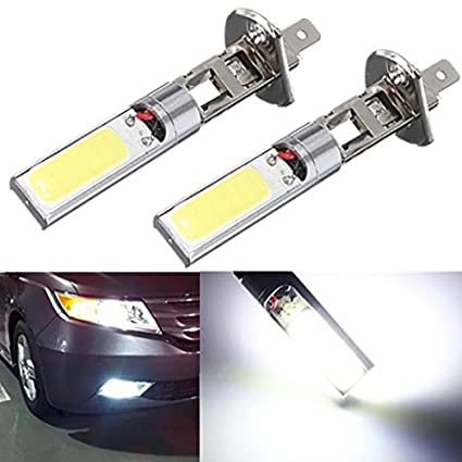 Led Auto Lights >> Amazon Com Katur 2x H1 12v 10w H1 Cob Led Car Fog Light Bulbs 6000k