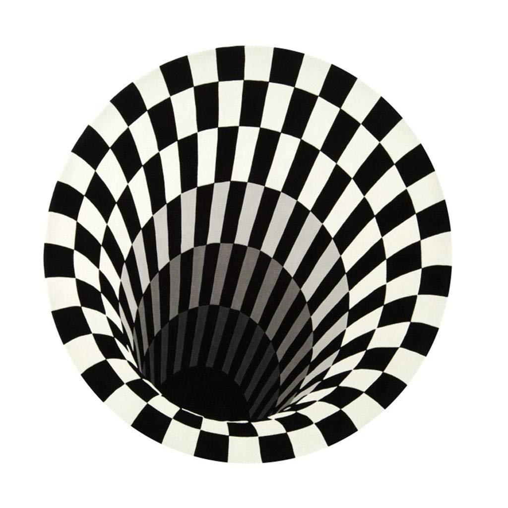ファッションシンプルなソフトノンスリップレストランベッドルームリビングルームコーヒーテーブルカーペットマット (色 : 黒, サイズ さいず : 150×150cm) 150×150cm 黒 B07KMY1D2R