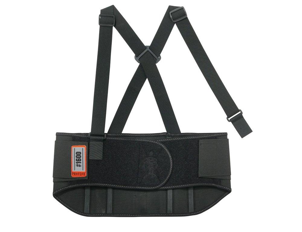 Ergodyne ProFlex 1600 Standard Elastic Back Support Belt, Large, Black