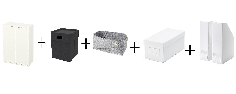 Ikea - Armario con 2 Puertas y Estante, Color Blanco, Caja, Gris ...