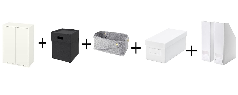 Amazon com: Ikea Cabinet with 2 doors and shelf, white,Box