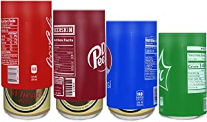 H2make 4 Pack Covers, Silicone Sleeve Beer-Hide Your Beverage Can, Perfect for Outdoors, Golf Course, Park, Parties, Sporting Events, Beach, Travel, Football Games