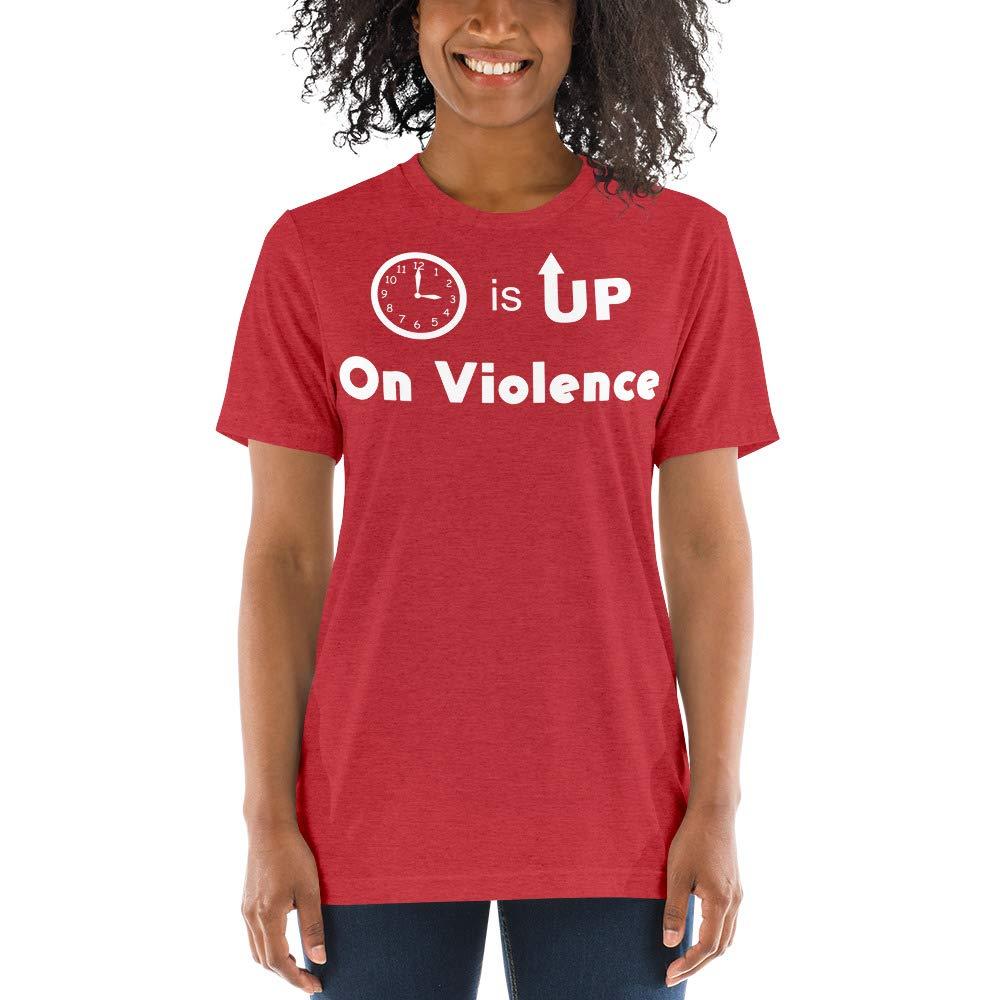 Mens Time is Up On Violence Tri-Blend Short Sleeve t-Shirt