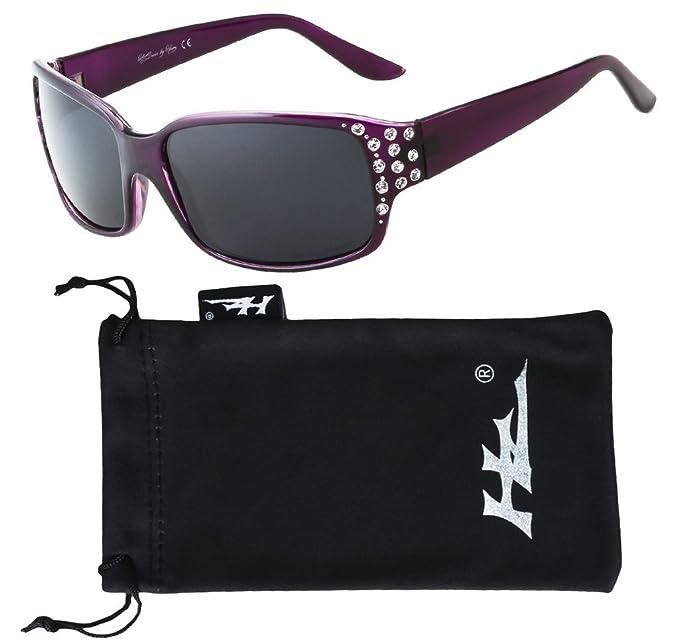 Hornz HZ Serie Diamante – Gafas de sol polarizadas para mujer Marco de lavanda profunda -