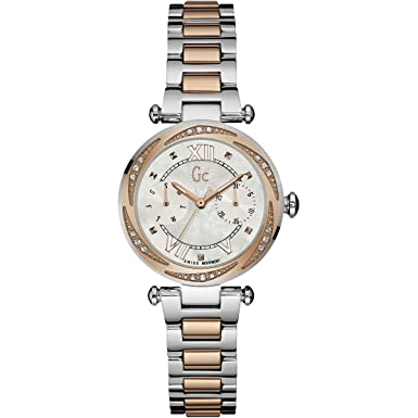 Guess Collection Ladies Diamond Watch with 2 Tone Rose Gold Bracelet Gc LadyChic Y06112L1 Swiss Made