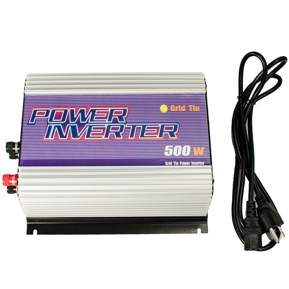 iMeshbean 250W 300W 500W 600W 1000W 2500W Grid Tie MPPT Power Inverter Converter for Solar Panel and Wind Turbine Generator System Stackable Pure Sine Wave USA (500W Wind Input 20v - 60v DC)