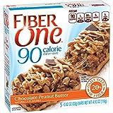 Fiber One Chewy Bar, 90 Calorie, Chocolate Peanut Butter, 5 Fiber Bars, 4.10 oz (Pack of 6)