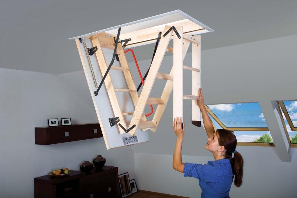 FAKRO de madera plegable Sección Loft escalera 111 cmx55 cm (489995): Amazon.es: Bricolaje y herramientas