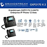 Grandstream GXP2170 (BUNDLE of 2) 12 Line IP Phone, Color Display-VoIP