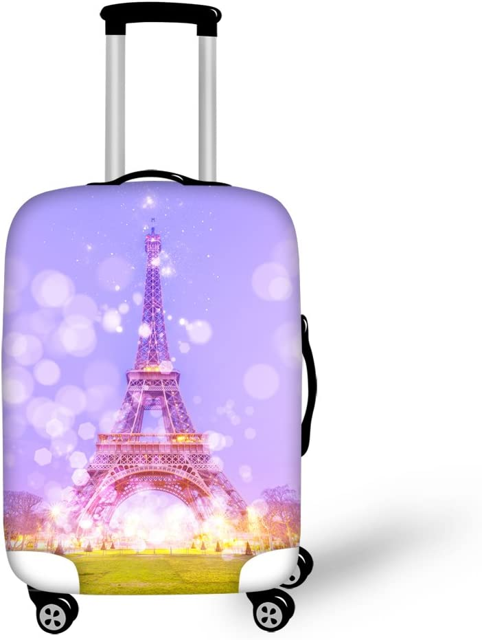 Cozeyat Eiffel Tower Print Suitcase Covers Spandex Travel Luggage Protector Cover