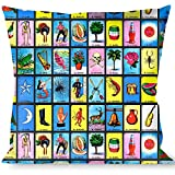 Buckle-Down Throw Pillow-Loteria Blocks, Bingo