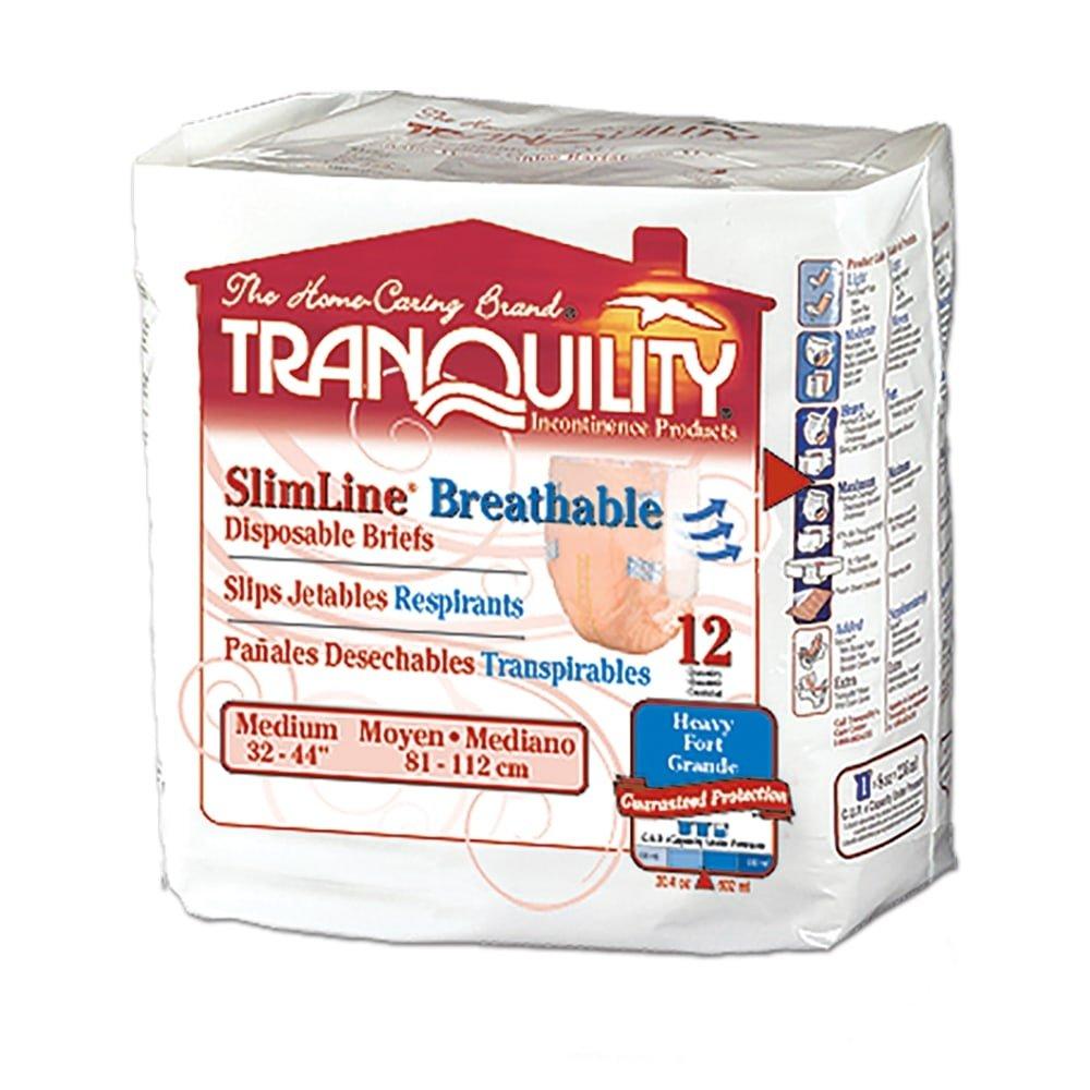 Tranquility SlimLine Breathable Brief, Slimline Brthbl Brf Medium, (1 CASE, 96 EACH)