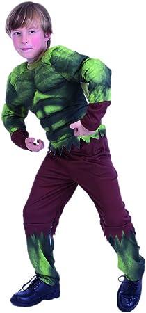 EUROCARNAVALES Disfraz de Hulk musculoso - Niño, de 5 a 6 años ...