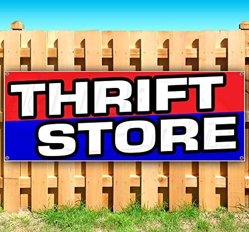Thrift Store Vinyl Banner 10 Feet Wide by 3 Feet Tall