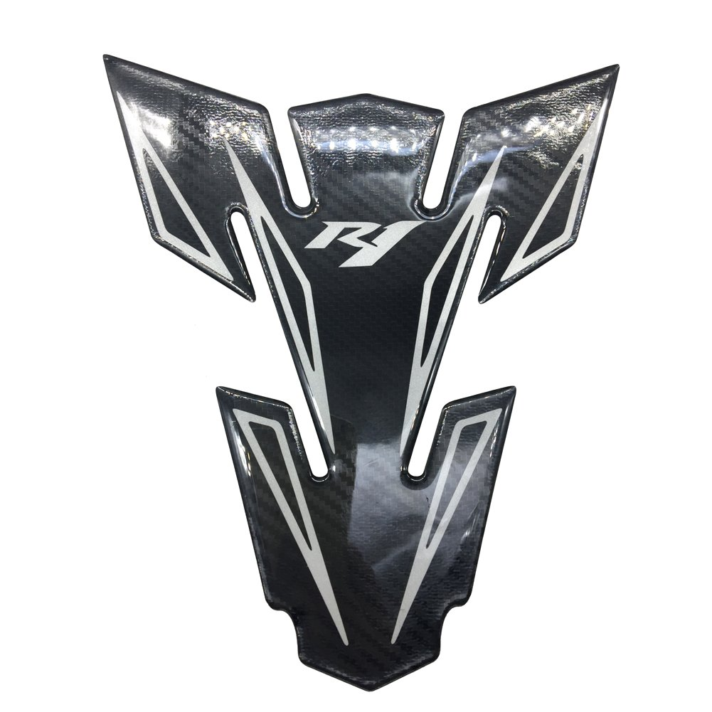Carbon Fiber Motorcycle Tank Protector 8.'' Pad For Yamaha YZF R1 S M