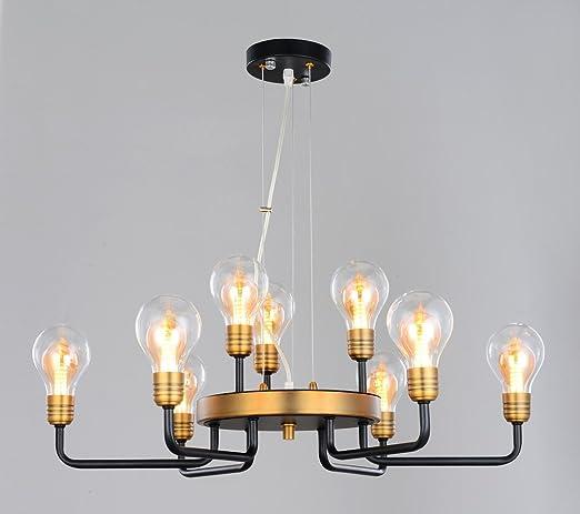 36230 lámpara de color negro latón antiguo ø70 cm 9 de techo ...