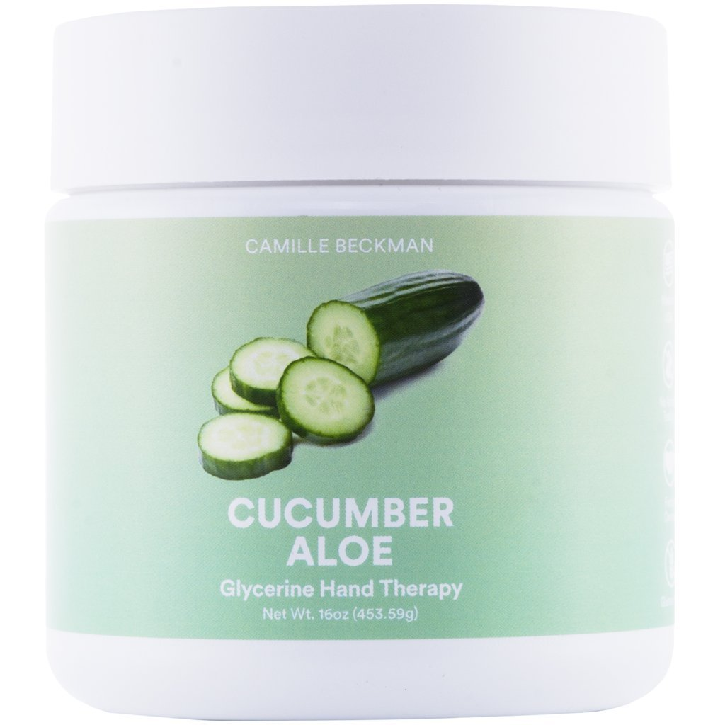Camille Beckman Glycerine Hand Therapy Cream, Cucumber Aloe, 16 Ounce
