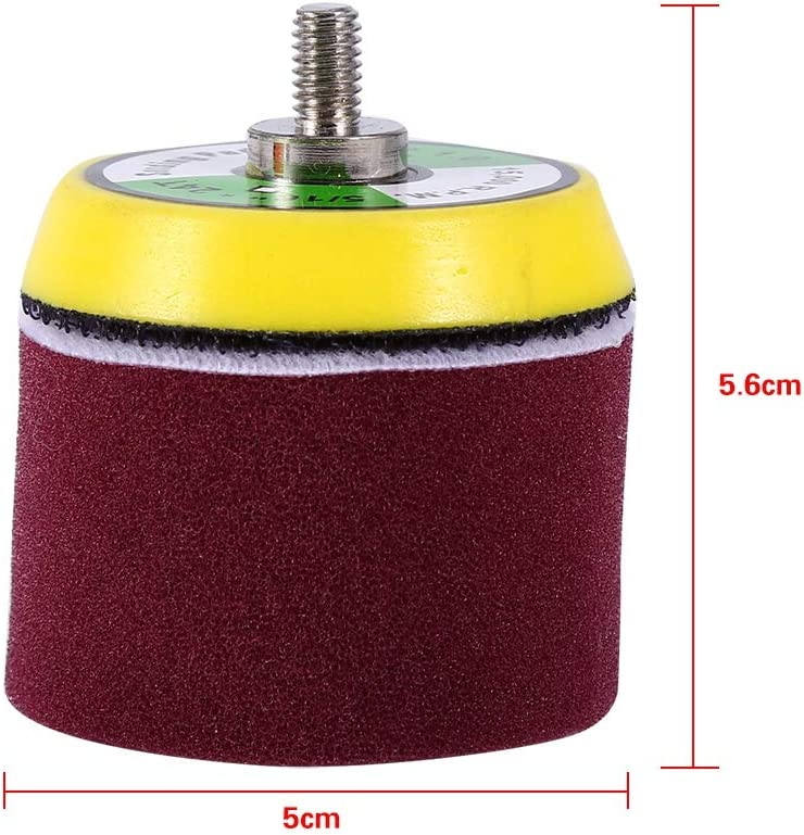 Senyar Flat Polishing Pat Set,16 pcs 2 Sponge Flat Polishing Buff Pad Set Fit for Air Sander Car Polisher Thread-M6X1