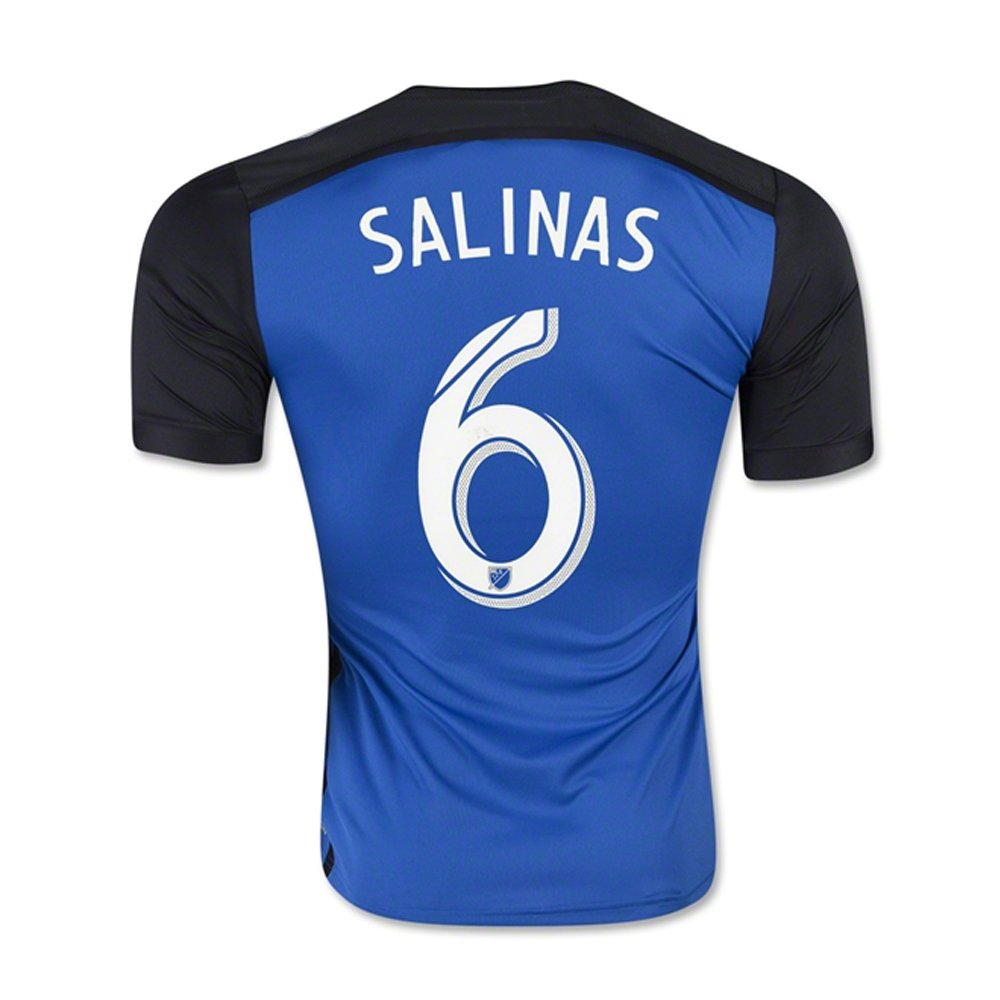 Adidas MLS SALINAS #6 San Jose Earthquakes Home Jersey 2016 (Authentic name & number) /サッカーユニフォーム サンノゼアースクエイク ホーム用 サリナス Large  B01BZ1FVJW