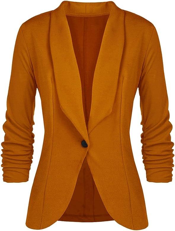 Mxssi Mujeres Blazers y Chaquetas Trabajo Office Mujer Suit ...