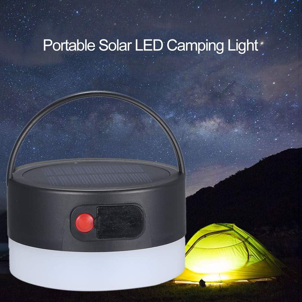 FONCBIEN Camping Luz Solar Solar Port/átil Led Linterna De Camping Luces Al Aire Libre USB Producto De Punto De Venta