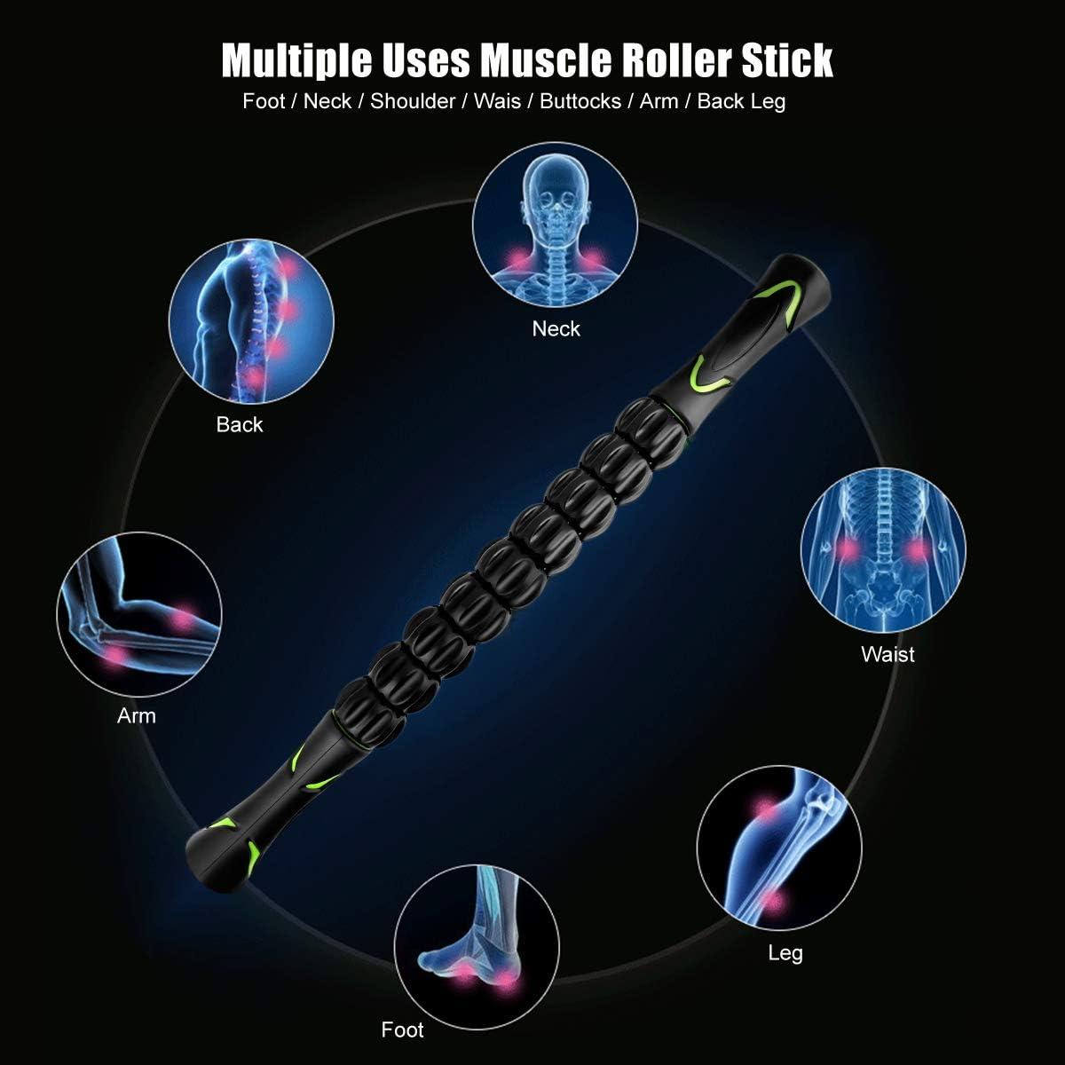 Entlastung Muskelkater Physiotherapie Ultraportabel Massageger/ät Tiefenmassagerolle f/ür Triggerpunkte CHAOCHI Massageroller Muskel Roller Stick