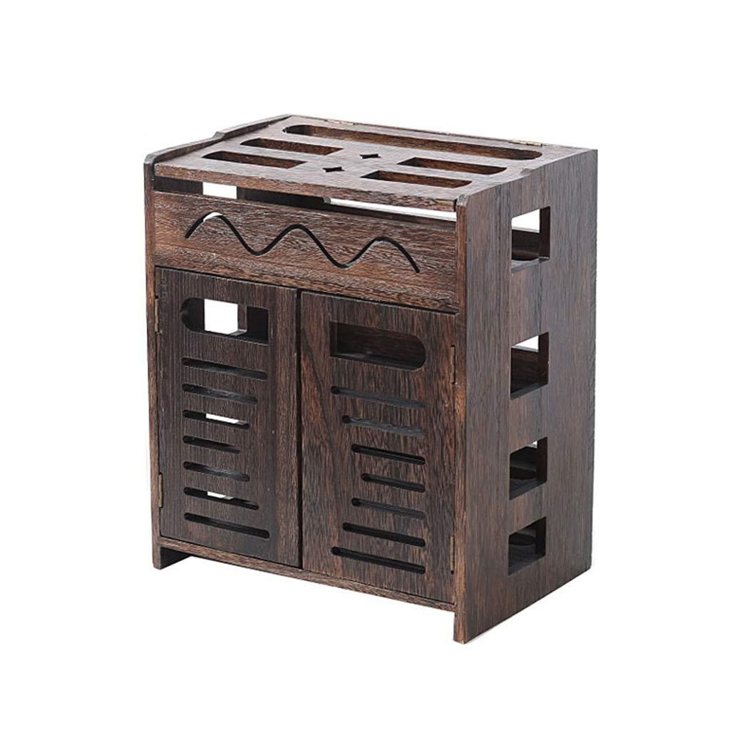 木製ルーター収納ラックセットトップボックステレビキャビネットテレビコンソールテレビ棚壁掛け棚壁フローティング棚DVDプレーヤー収納棚多機能ディスプレイ棚 (サイズ さいず : 22*21*37cm) B07SCY2P3Z  22*21*37cm