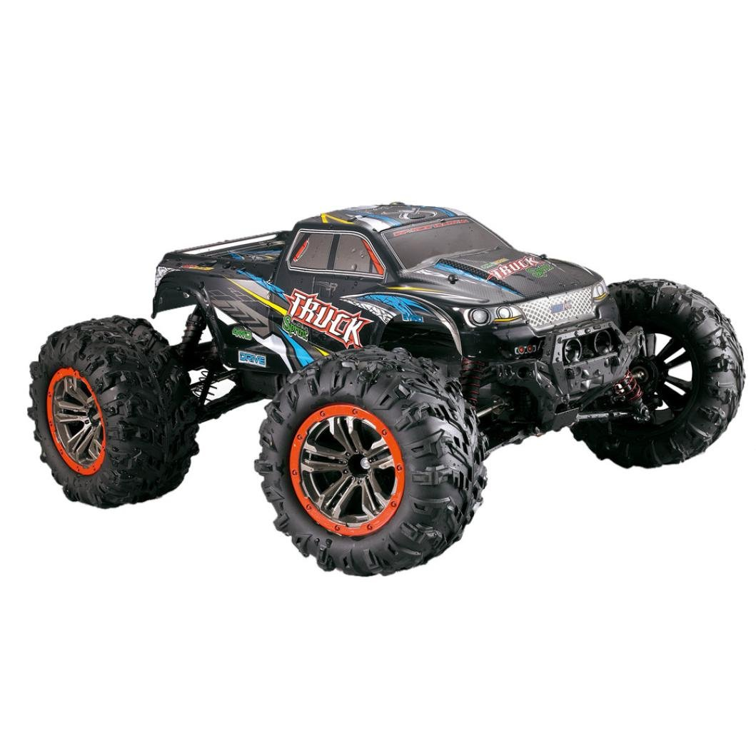 Xander 1/10 Scale Double motor High Speed Thrill 46km/h 2.4Ghz 4WD Monster Crawler Off-Road RC Car (Multicolor)