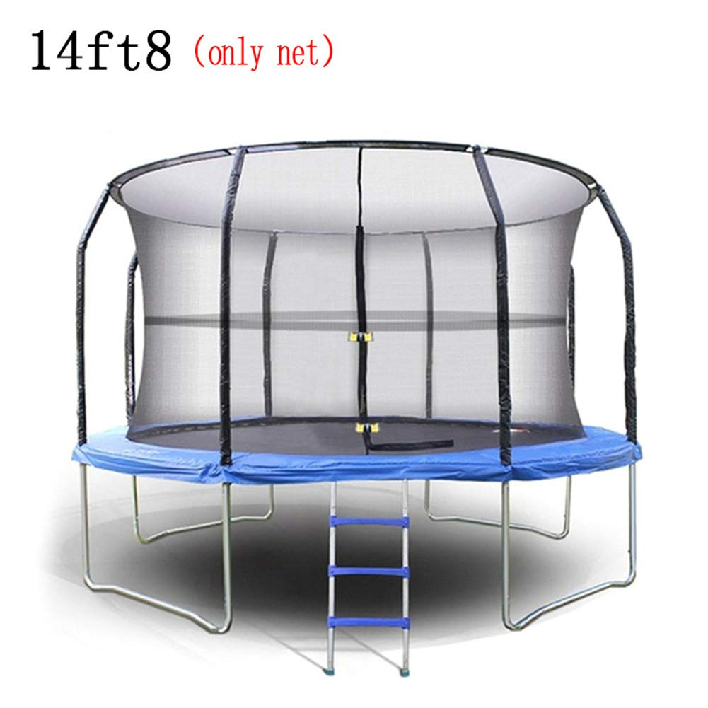 NAIZEA 14 Inch Trampoline Net, Trampoline Enclosure Safety Net for Round Frame Trampolines with 8 Poles, Poles Not Include (14FT)