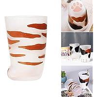 Taza con diseño de pata de gato, diseño de garra de gato, taza esmerilada