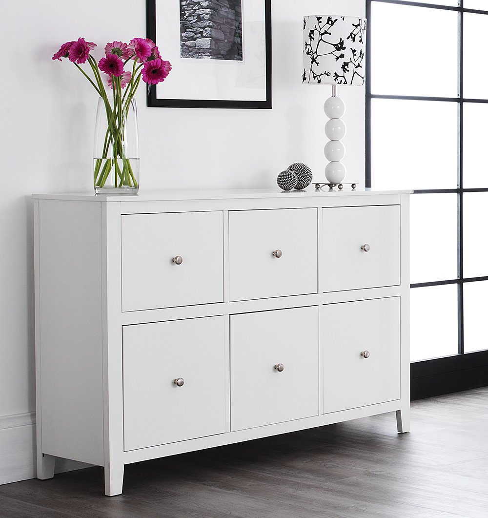 brooklyn white dresser with  deep drawers large white chest of drawerswith metal runners dovetail joints assembled amazoncouk kitchen  home. brooklyn white dresser with  deep drawers large white chest of