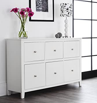 Brooklyn White Dresser With 6 Deep Drawers, Large White Chest Of Drawers  With Metal Runners, Dovetail Joints, ASSEMBLED: Amazon.co.uk: Kitchen U0026 Home