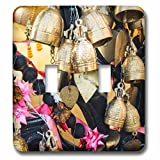 3dRose Danita Delimont - Objects - Thailand, Phuket Island, Bells of Faith at Phuket Big Buddha - Light Switch Covers - double toggle switch (lsp_276969_2)