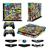 Skins for PS4 Controller – Decals for Playstation 4 Games – Stickers Cover for PS4 Console Sony Playstation Four Accessories PS4 Faceplate with Dualshock 4 Two Controllers Skin – Doodle Review