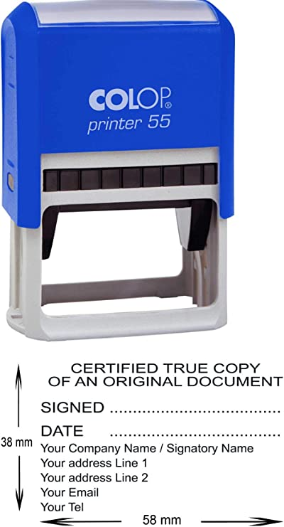 Stempel Colop Printer 05 custom mit individueller Textplatte 15x6 mm - 2 Zeilen