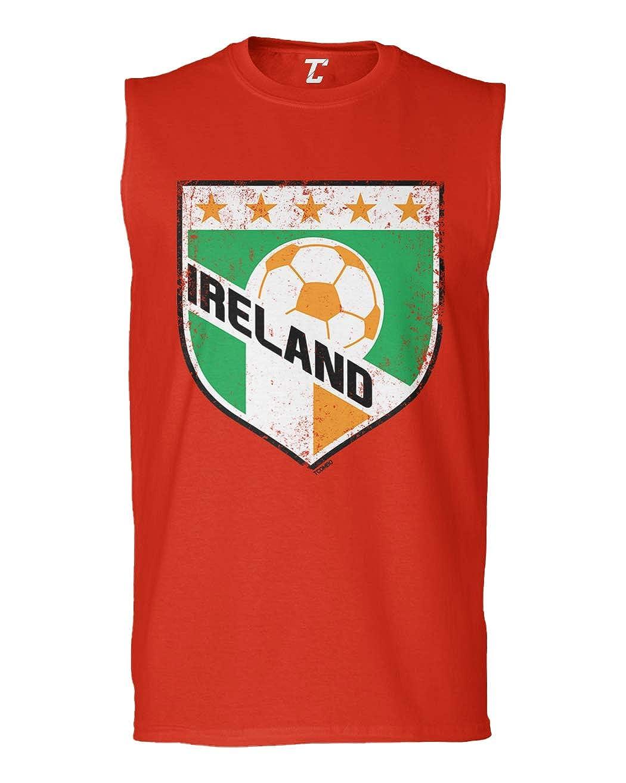 Soccer Futbol Sports Mens Sleeveless Shirt Ireland Crest