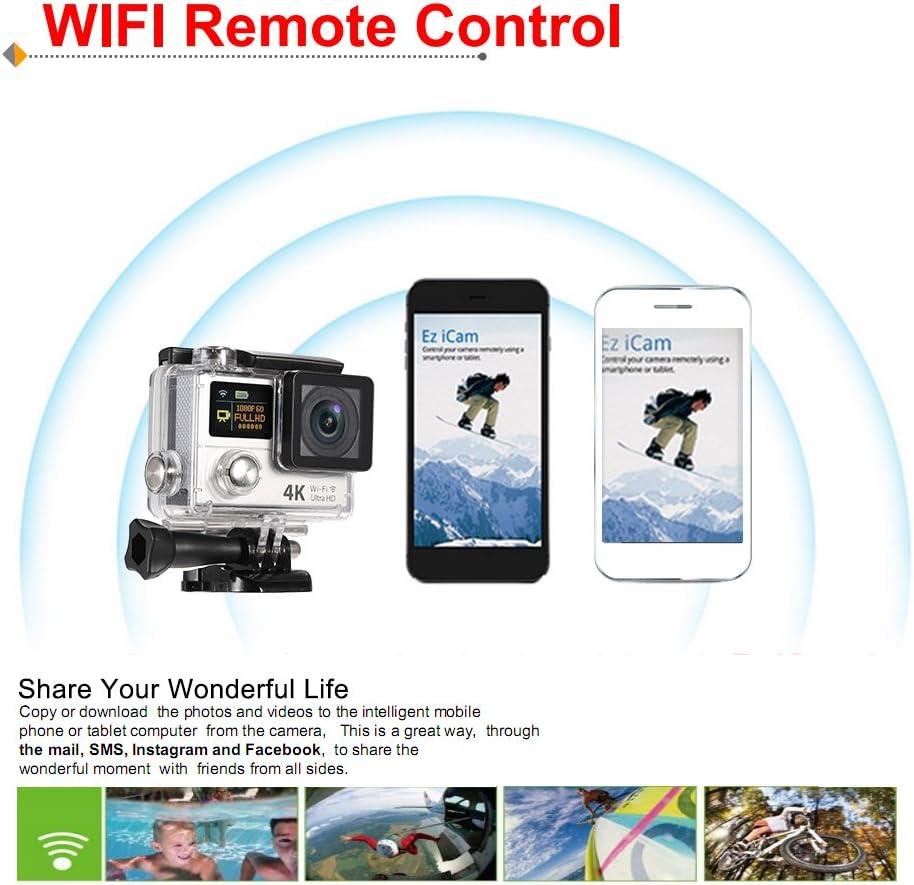 Andoer 5,1/cm Dual LCD-Ultra HD WiFi Sport Action Kamera 4/K 15/fps 1080p 60/fps 12/MP 170//° Weitwinkel f/ür HDMI-Ausgang Wasserdicht 30/M Cam Auto DVR FPV