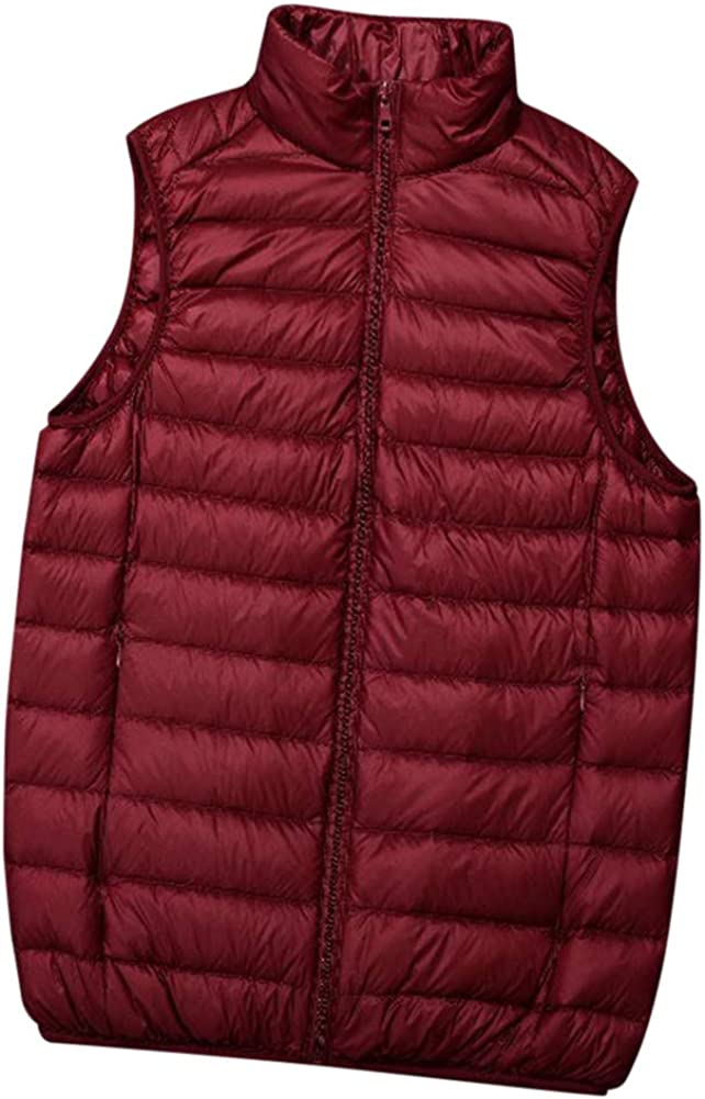 Yiqi Mens Gilet Vest Winter Body Warmer Quilted Waistcoat
