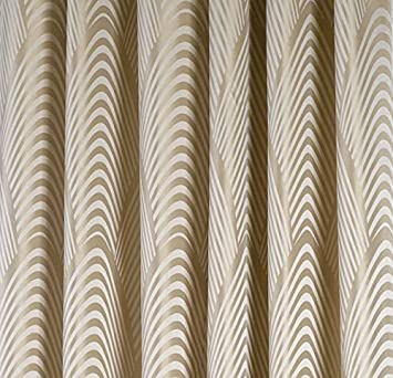 Curtains Ideas art deco curtains : FABRIC SAMPLE for our Art DECO style CURTAINS GOLD BEIGE: Amazon ...