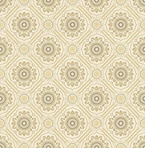 (Decor Direct WQIM71711 Wallpaper Light Gold, and Cream)