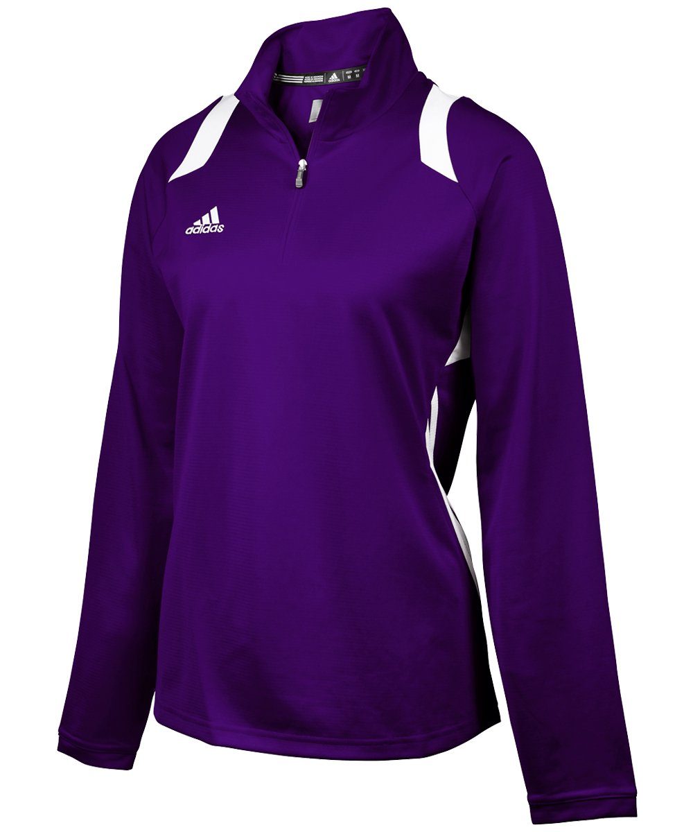 adidas Women's Game Day 1/4 Zip - Collegiate Purple/White - Small by adidas