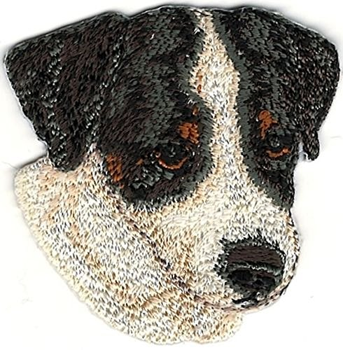 "2"" x 2"" Jack Russell Terrier Dog Breed Portrait Embroidery Patch"