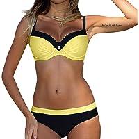 Bikini Push Up con Relleno LANSKIRT Bohemia Vikinis Traje de Baño Mujer 2020 Conjuntos de Tops y Tangas Ropa de Baño…